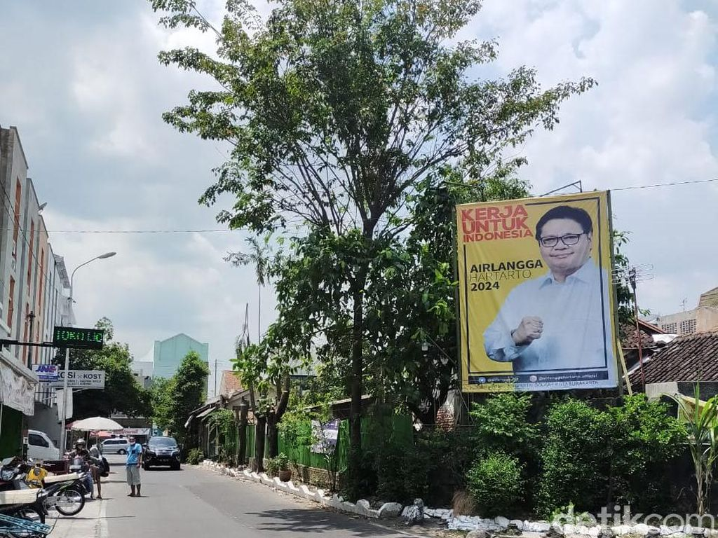 Susul Puan, Baliho Airlangga Kini Bertebaran di Solo
