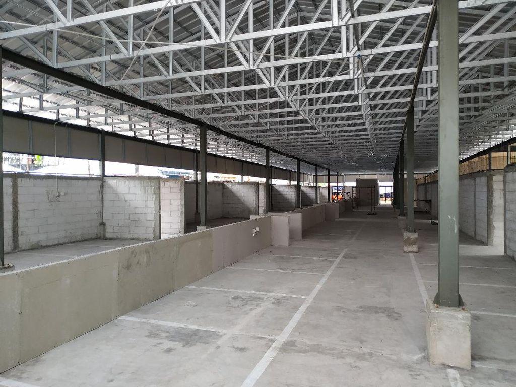 Pembangunan Pasar Kambing Tanah Abang Hampir Rampung, Tinggal Finishing