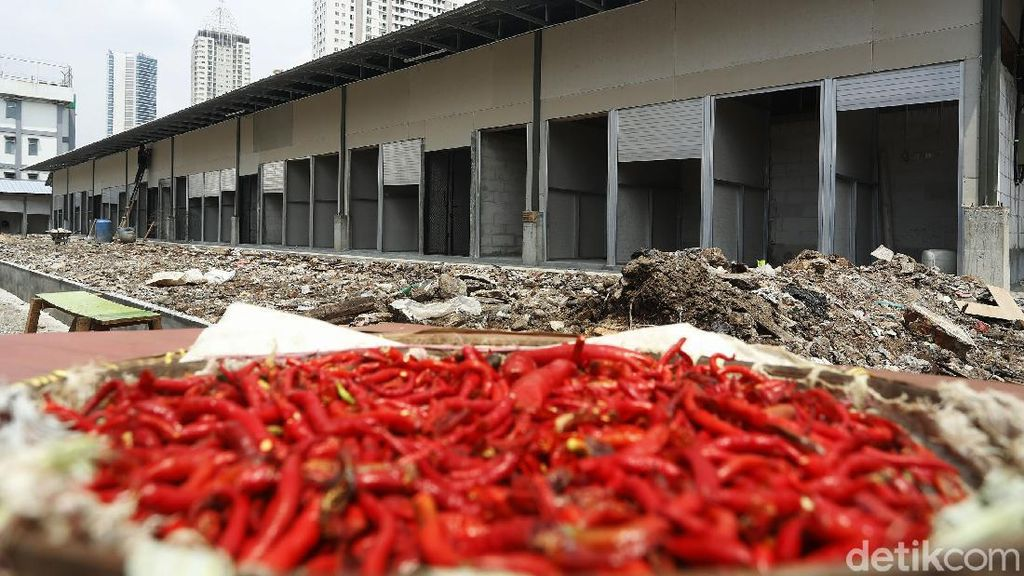 Pembangunan Pasar Kambing Tanah Abang Hampir Rampung