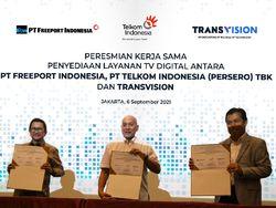 Transvision & Telkom Hadirkan Layanan TV Digital untuk Freeport