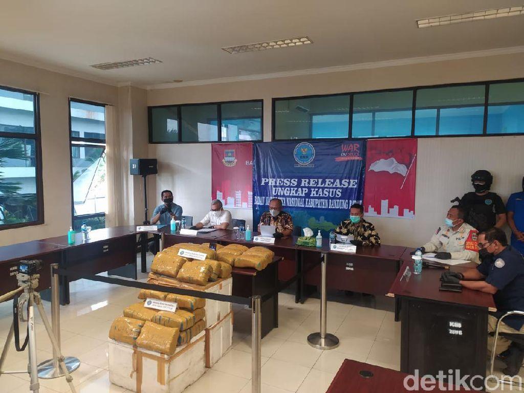 BNN Gagalkan Peredaran 67 Kg Ganja di Bandung Barat