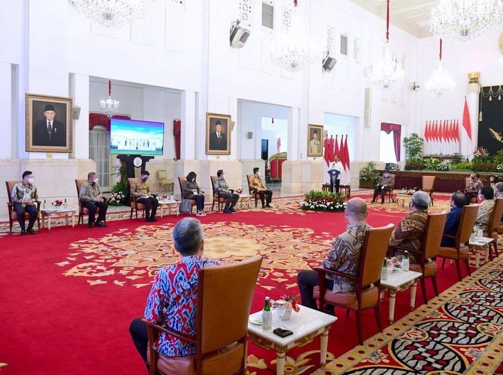Jokowi Rapat Bareng Asosiasi Ekonomi-Bisnis Bahas Ibu Kota Baru-Covid