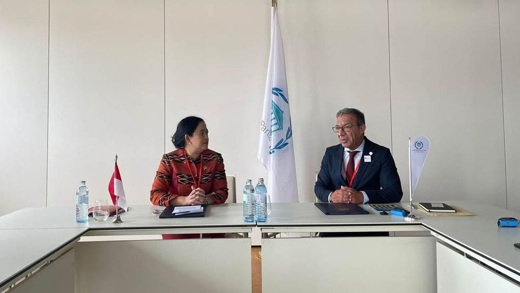 Ketua DPR Puan Maharani Bertemu Presiden IPU Duarte Pacheco