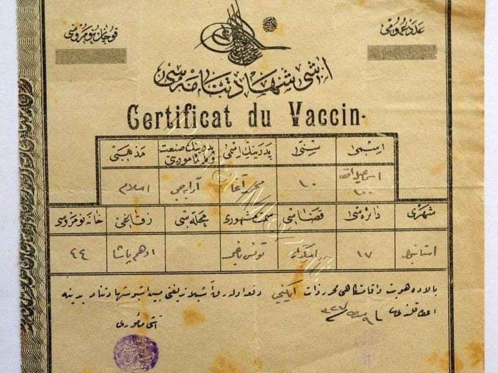 Sertifikat Vaksin Zaman Turki Utsmaniyah, Sekelumit Perjalanan Vaksinasi