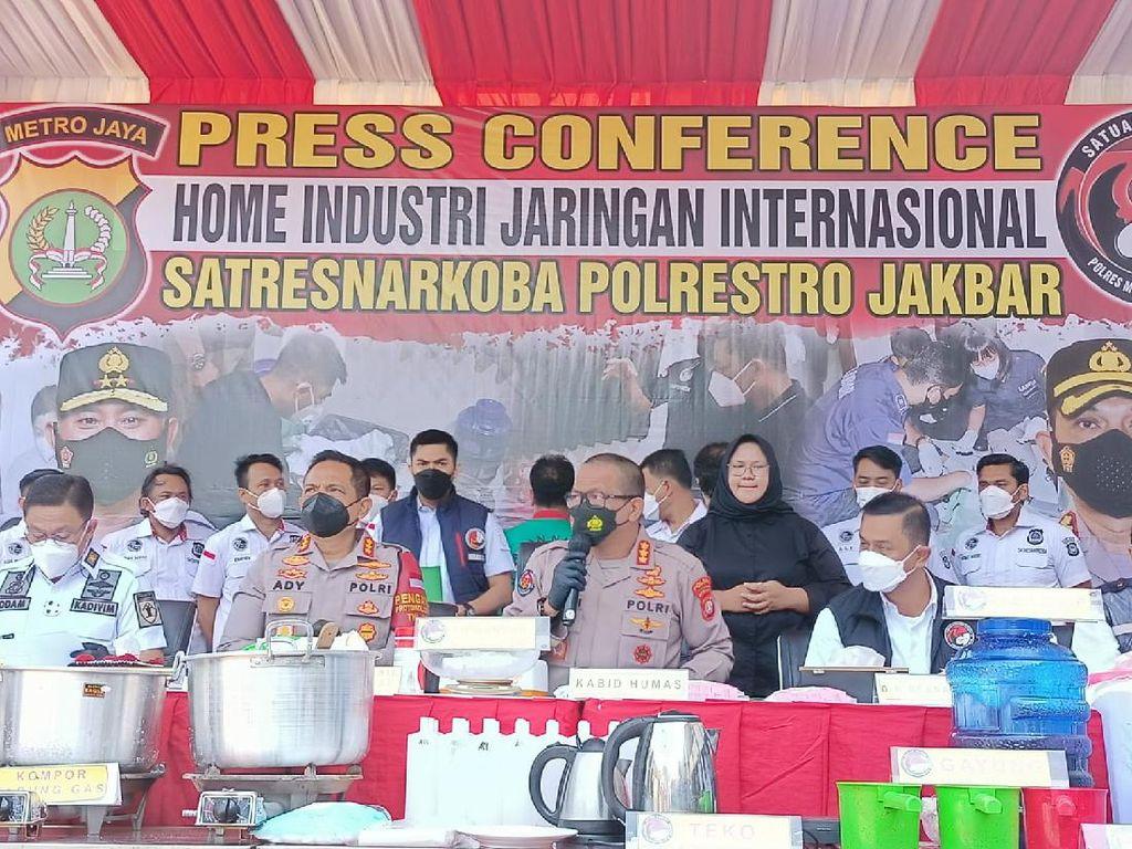 Polisi Sita Sabu Senilai Rp 7,5 M dari Pabrik di Tangerang: Kualitas Super
