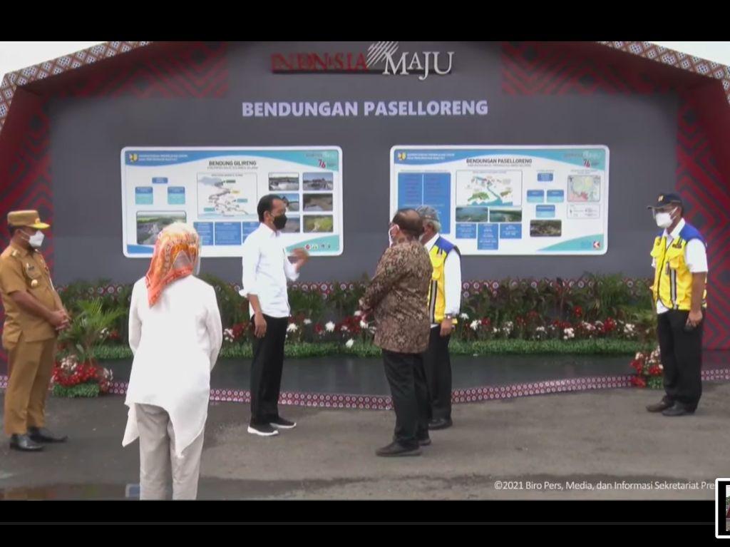 Jokowi Resmikan Bendungan Paselloreng Wajo, Harap Sulsel Jadi Lumbung Pangan