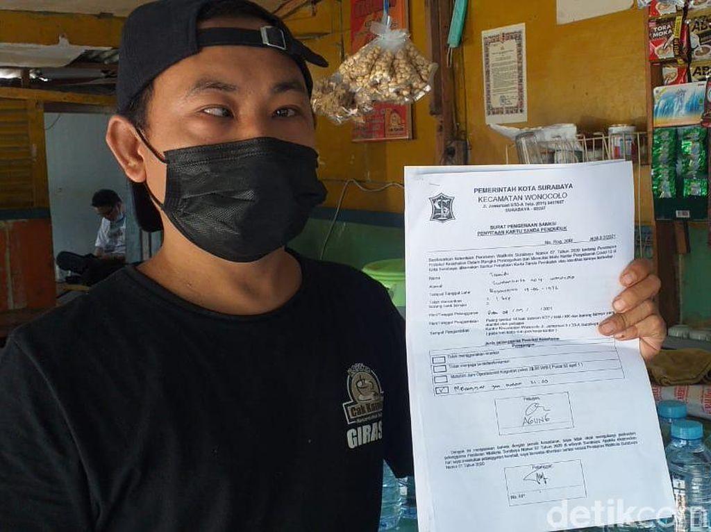Kasihan, Warkop di Surabaya Ini Dirazia dan Didenda Meski Sudah Tutup