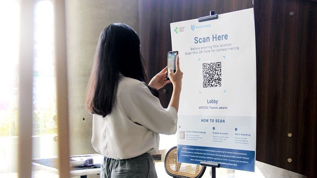 Cara scan barcode dan sertifikat vaksin di PeduliLindungi/instagram/artotelthamrin