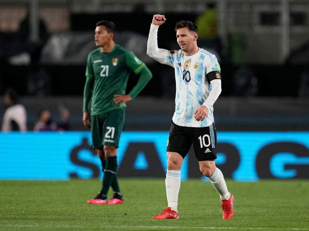 Momen Messi Borong Tiga Gol Argentina ke Gawang Bolivia