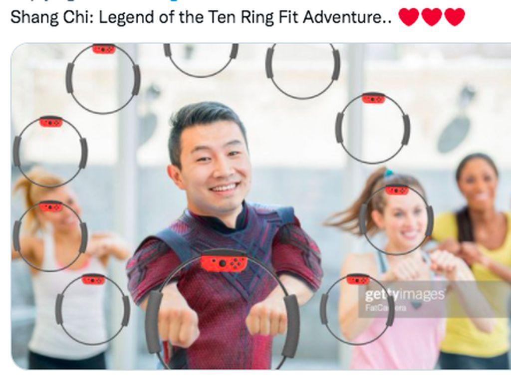 Foto Lucu Meme Simu Liu Aktor Film Shang-Chi