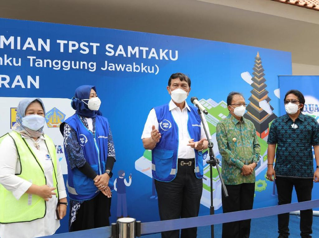 Luhut Resmikan TPST di Bali, Harap Permasalahan Sampah Bisa Terkendali