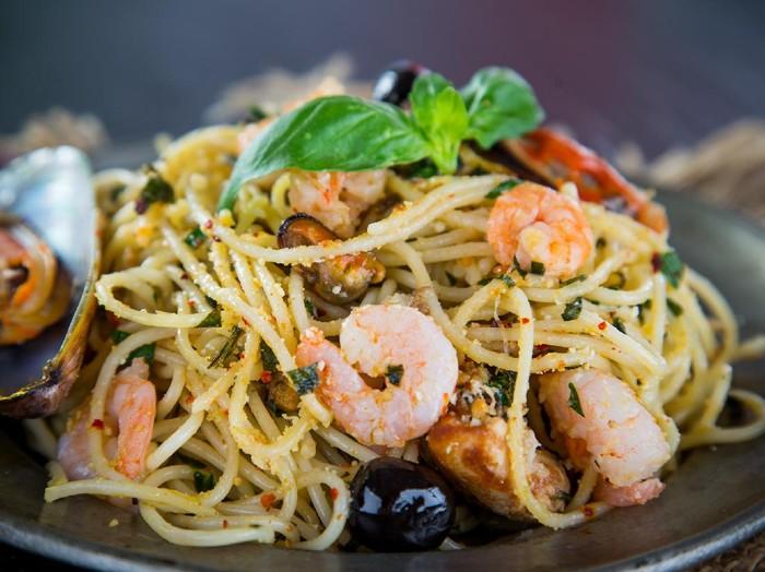 Resep Spaghetti Aglio Olio Seafood