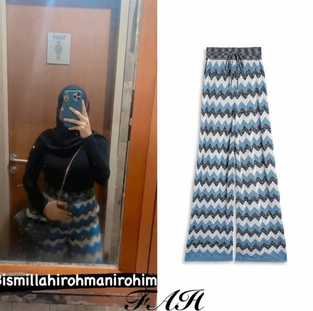 Aurel Hermansyah mengenakan celana dari Missoni seharga hampir 20 juta rupiah.