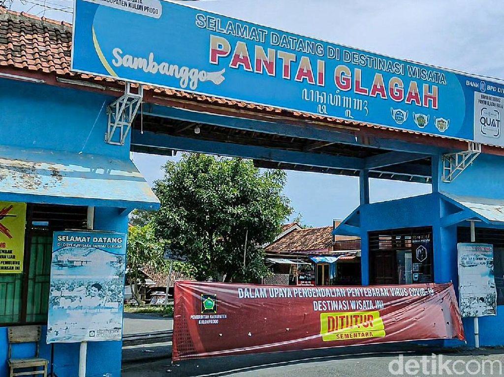 Pantai Glagah Kulon Progo Tutup, tapi Wisatawan Nekat Terobos