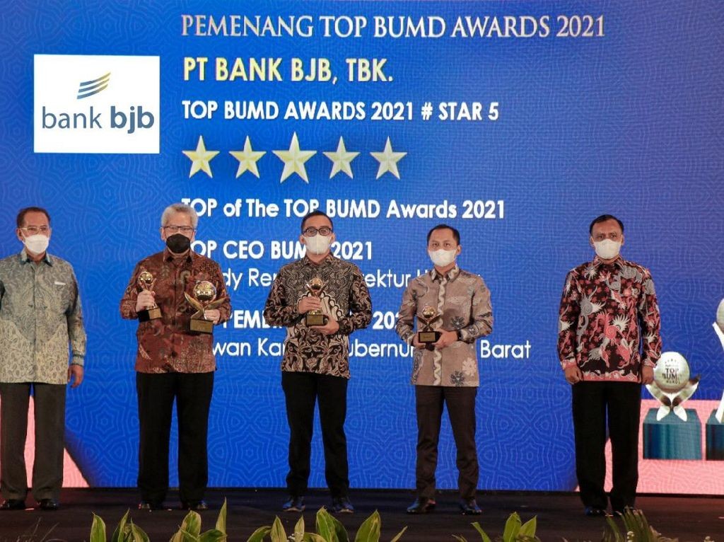 bank bjb Sabet 4 Penghargaan TOP BUMD Awards 2021