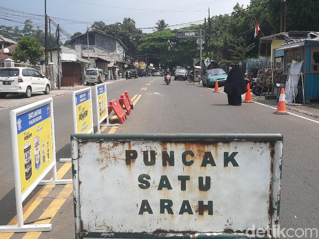 Polisi Terapkan Sistem Satu Arah di Kawasan Puncak Bogor