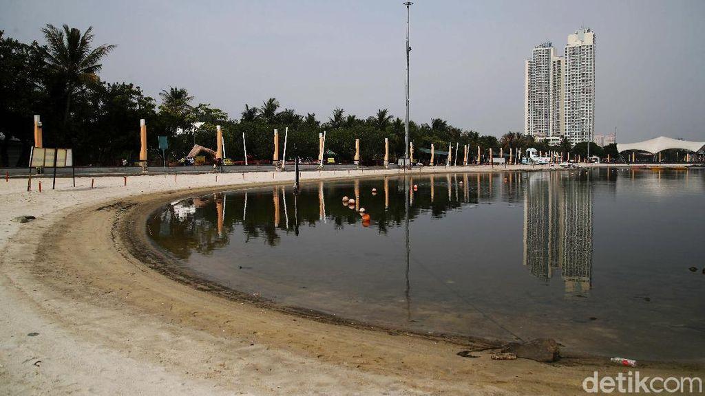 Suasana Uji Coba Pembukaan Taman Impian Jaya Ancol