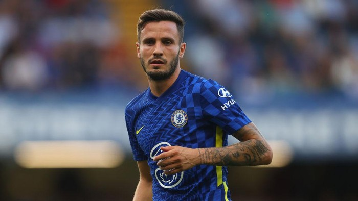 LONDON, ENGLAND - SEPTEMBER 11: Saul Niguez of Chelsea during the Premier League match between Chelsea  and  Aston Villa at Stamford Bridge on September 11, 2021 in London, England. (Photo by Catherine Ivill/Getty Images)