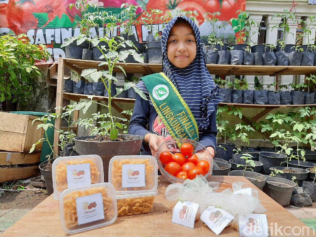 Siswi SD Ini Bikin Boba dan Cendol Berbahan Tomat, Pastinya Lebih Sehat