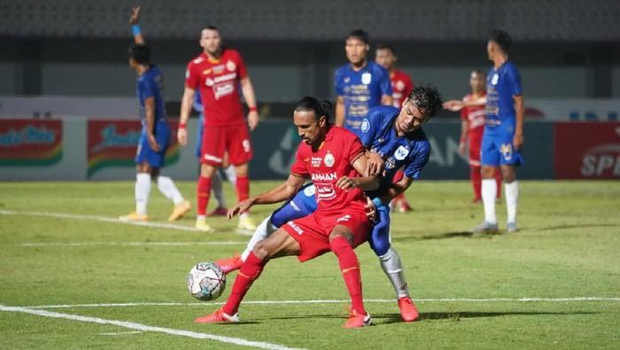 Aksi Rohit Chand di laga Persija Jakarta vs PSIS Semarang
