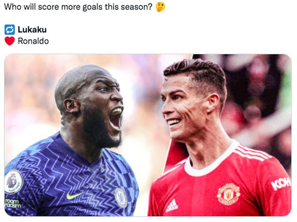 Chelsea-Lukaku Tak Mau Kalah dengan Ronaldo-Man Utd