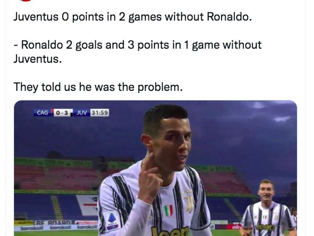 Netizen Ejek Juventus Payah Tanpa Ronaldo