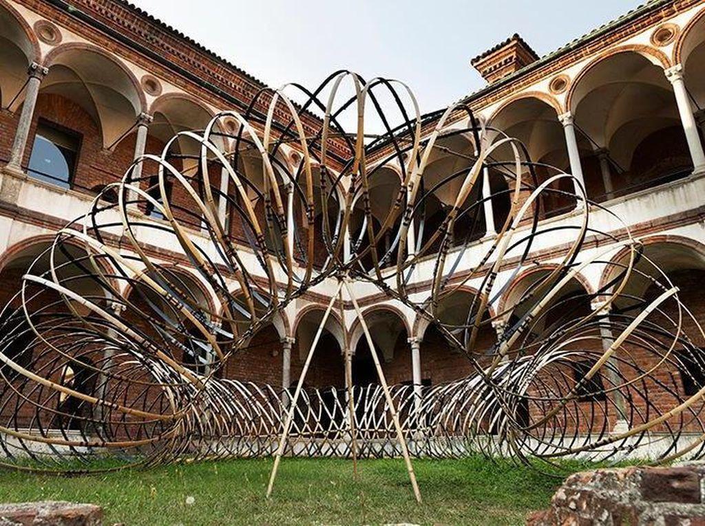 OPPO Gandeng Arsitek Jepang Pamer Bamboo Ring di Milan Design Week