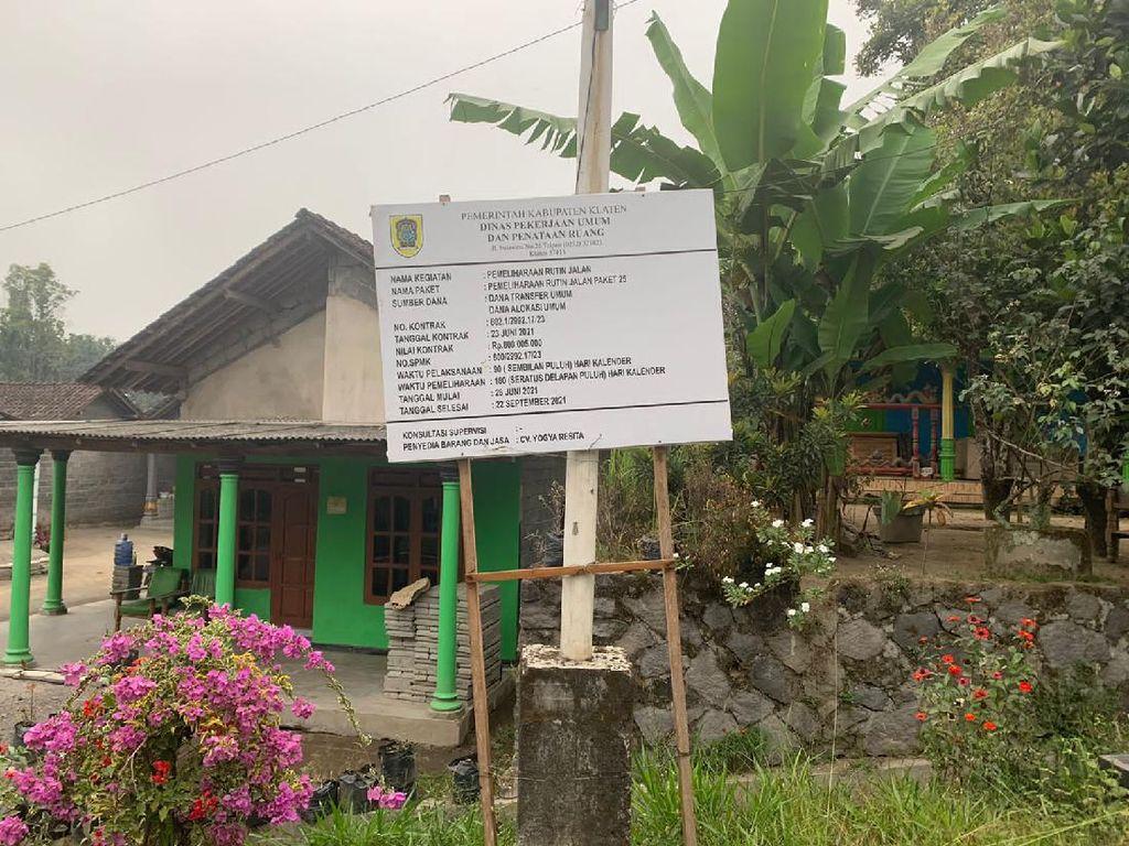 Ternyata Ini Alasan Papan Renov Jalur Evakuasi Merapi di Klaten Dipindah