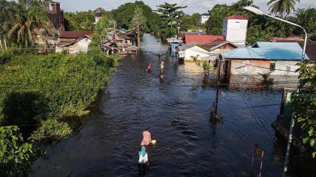 Potret Banjir Terparah di Kalimantan Tengah