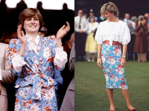 Putri Diana mengenakan busana bunga-bunga