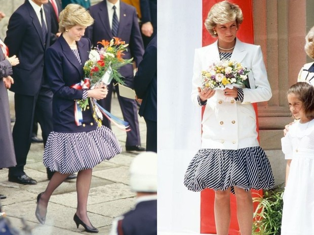 Putri Diana mengenakan dress balon