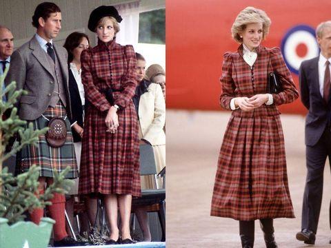 Putri Diana mengenakan dress tartan