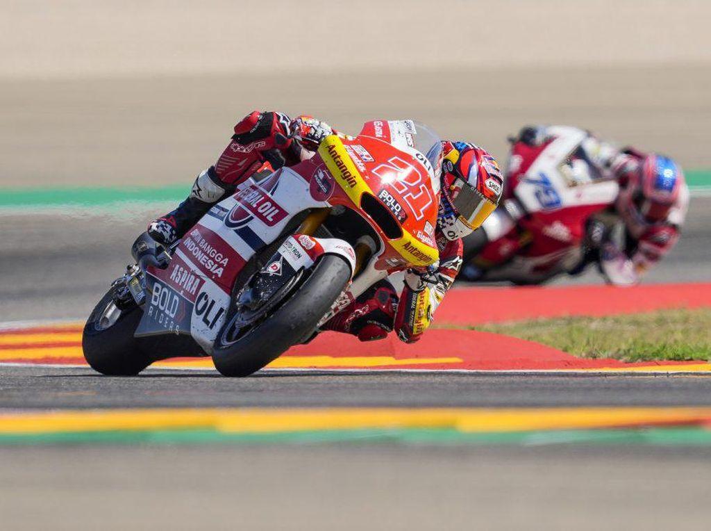 Hasil Tim Indonesia di Moto2 Aragon: Cuma 1 Rider Raih Poin