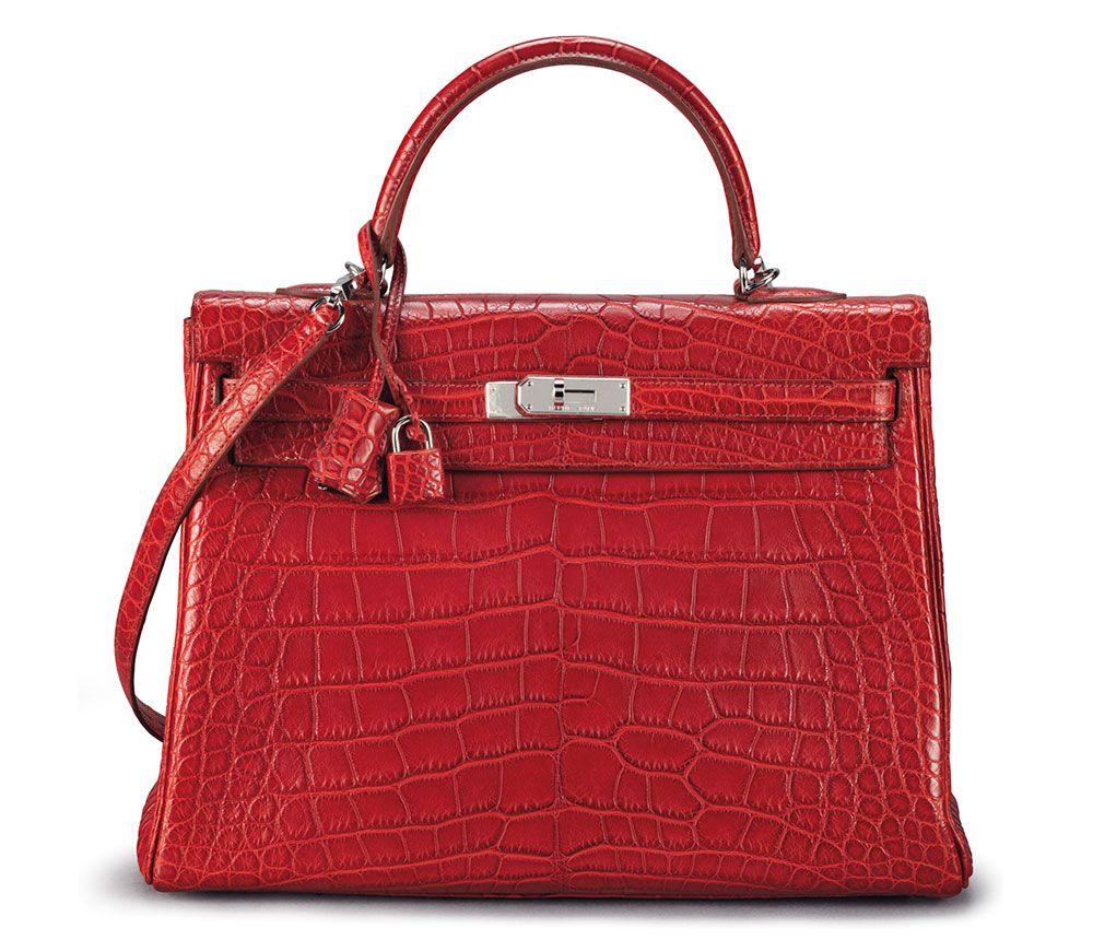 Hermès Retourne Kelly in Rouge H Matte Alligator, 35cm