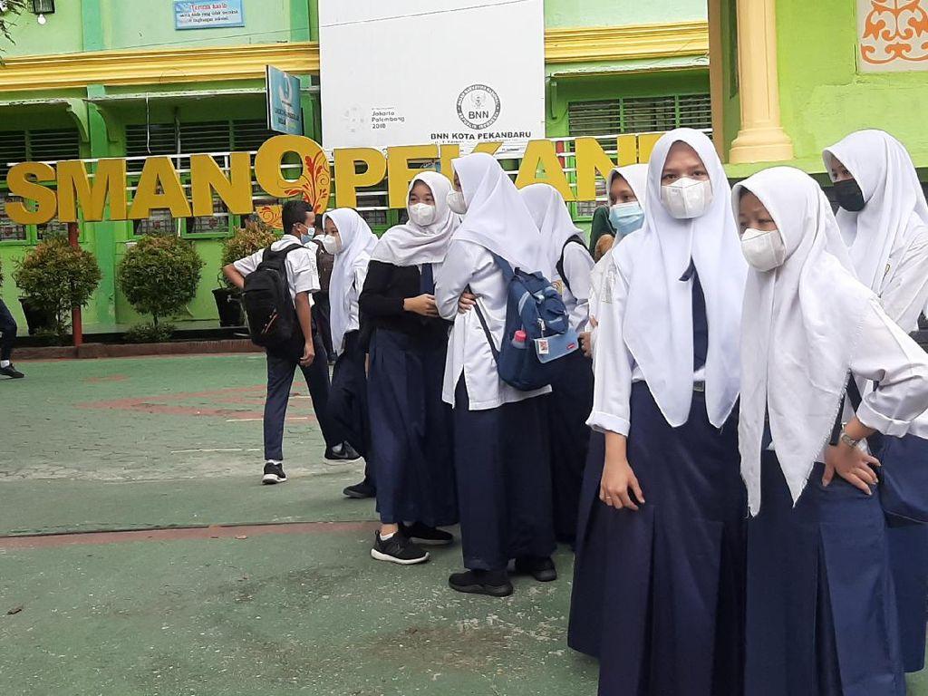 Sekolah Tatap Muka Dimulai di Pekanbaru, Jam Belajar Dibagi 2 Sesi