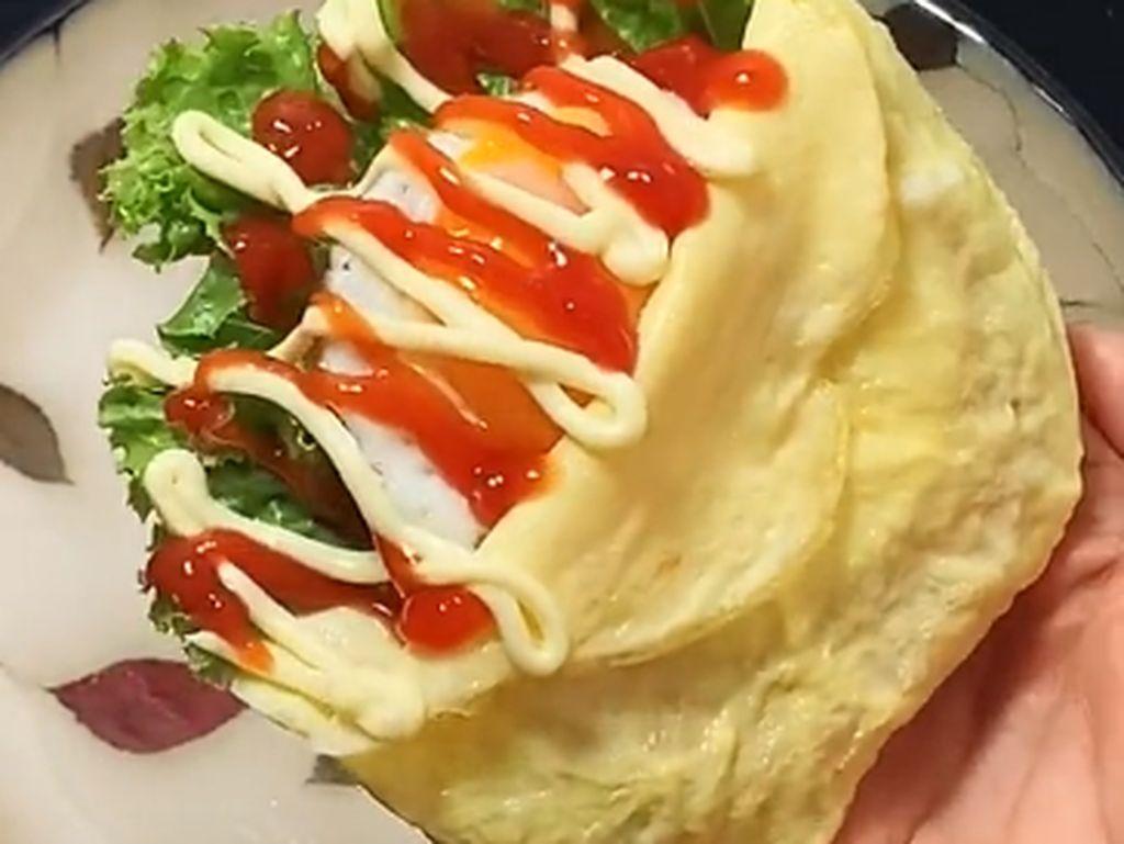 Lagi Tren di TikTok, Sandwich Kantong Telur yang Rendah Karbo