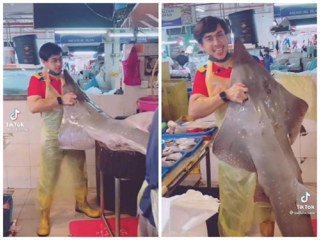 Jangan Salfok! Ini Tukang Ikan Ganteng yang Lagi Viral di TikTok