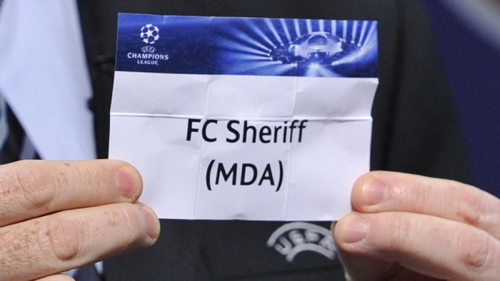 NYON, SWITZERLAND - JUNE 24:  The name FC Sheriff is seen during the UEFA Champions League Q2 qualifying round draw at the UEFA headquarters on June 24, 2013 in Nyon, Switzerland.  (Photo by Harold Cunningham/Getty Images)