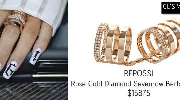 Cincin mewah yang dipakai oleh CL