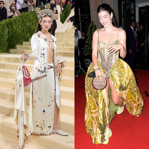 Lorde Met Gala 2021 red carpet vs after party