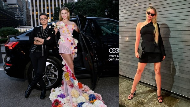 Lili Reinhart Met Gala 2021 red carpet vs after party