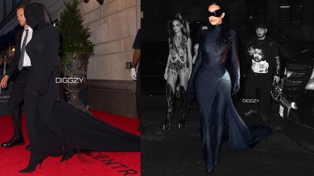 Kim Kardashian Met Gala 2021 red carpet vs after party