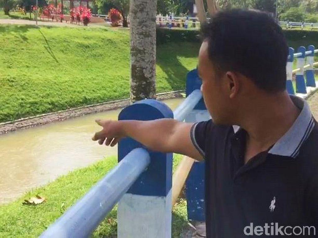Mayat Pria dengan Besi Pemberat di Kaki Ditemukan Setelah Sungai Disurutkan