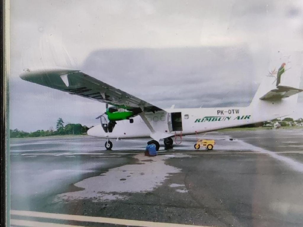 Detik-detik Pesawat Rimbun Air Hilang Kontak di Sagupa Papua