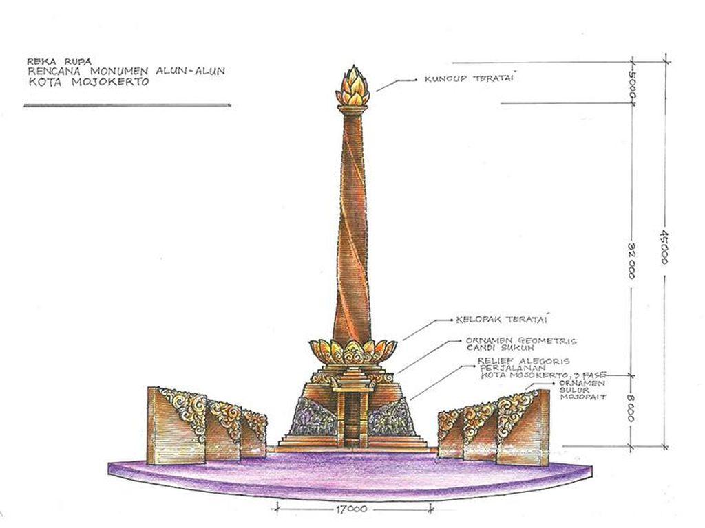Sarat Akan Sejarah, Tugu Proklamasi di Kota Mojokerto Ditata Ulang
