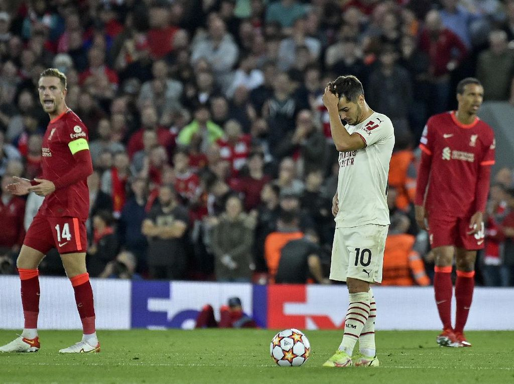 Milan Ketinggalan Jauh Banget dari Liverpool