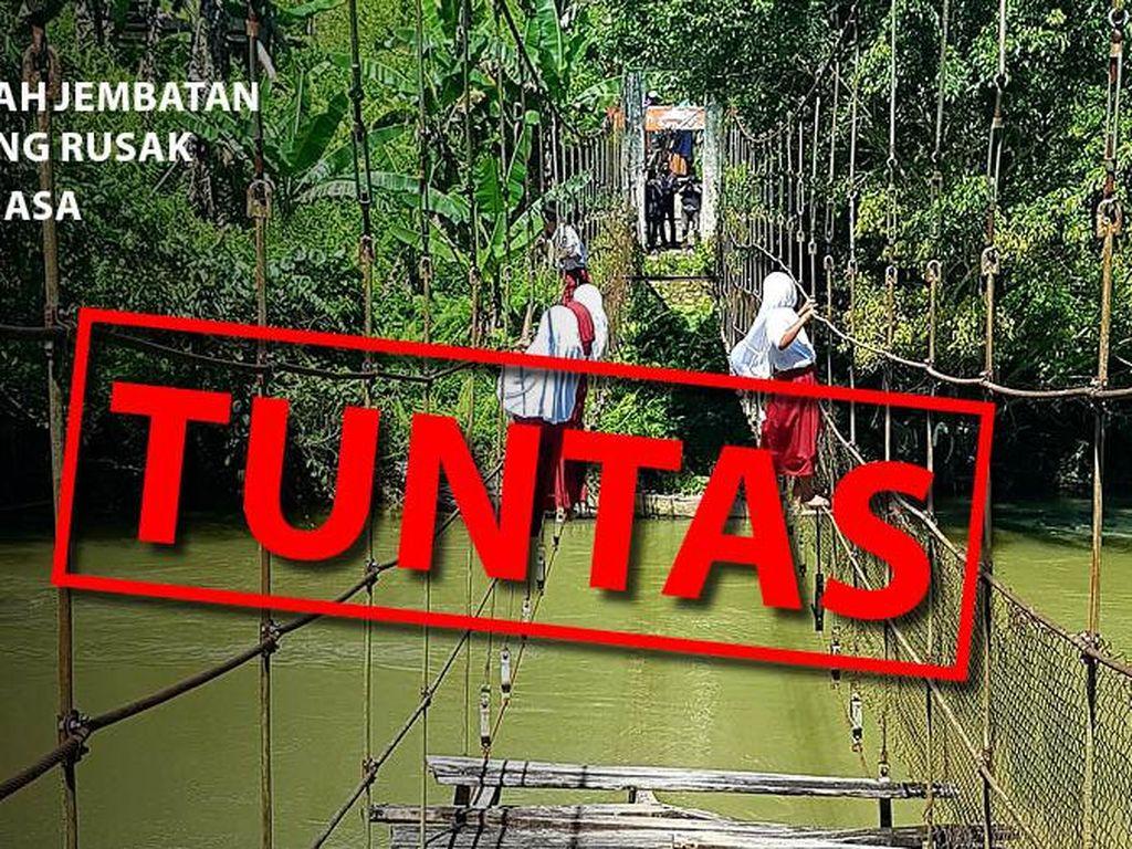 Before-after Perbaikan Jembatan Gantung Mamasa: Dulu Bahaya, Kini Prima!