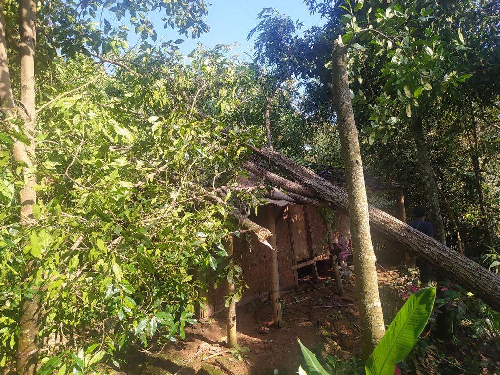 12 Rumah Warga Cianjur Rusak Diterjang Puting Beliung-Pergerakan Tanah