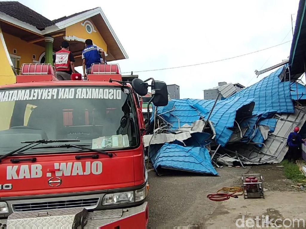 50 Bangunan di Wajo Rusak Diterjang Puting Beliung, 5 Orang Terluka