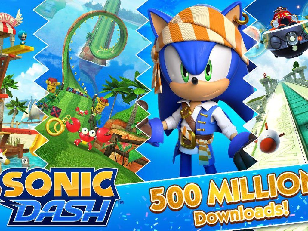 Game Mobile Sonic Dash Tembus 500 juta Unduhan, Cuan Berapa?